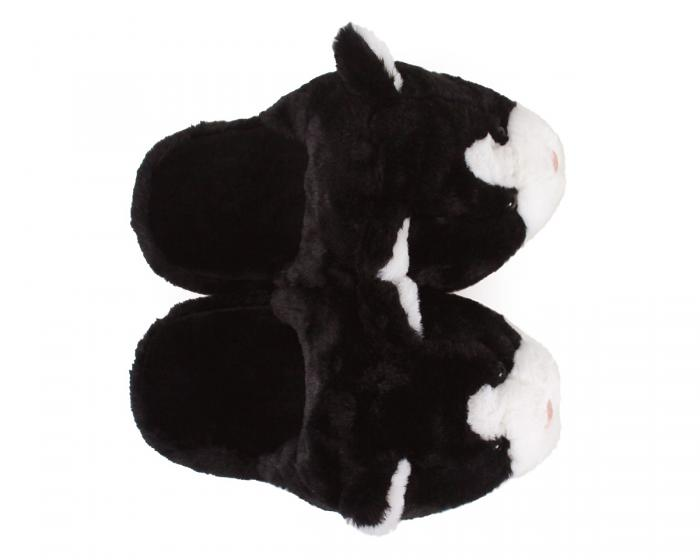 Black And White Kitty Slippers 3