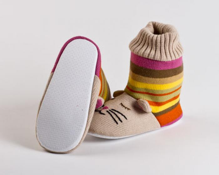 Knitted Sock Cat Slippers 3