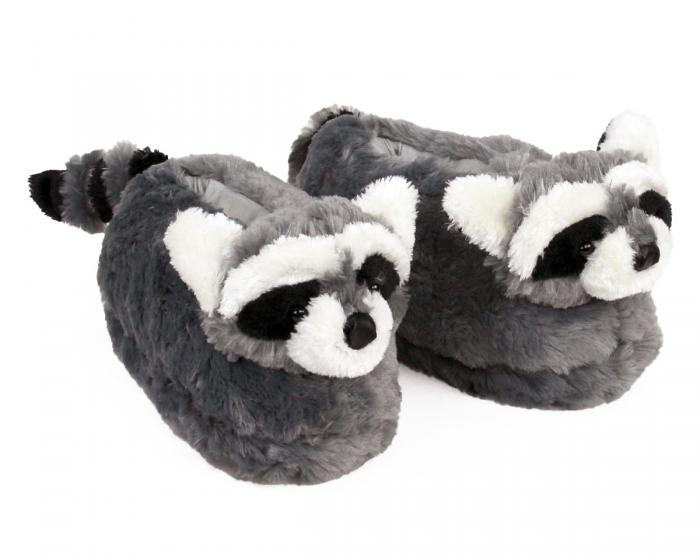 Raccoon Slippers 3/4 View