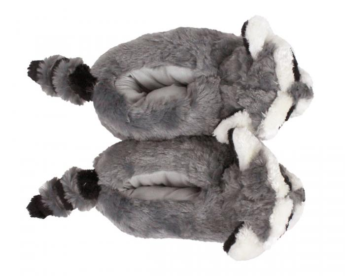 Raccoon Slippers Top View