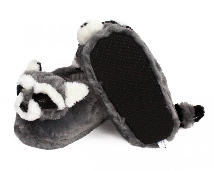 Raccoon Slippers Bottom View