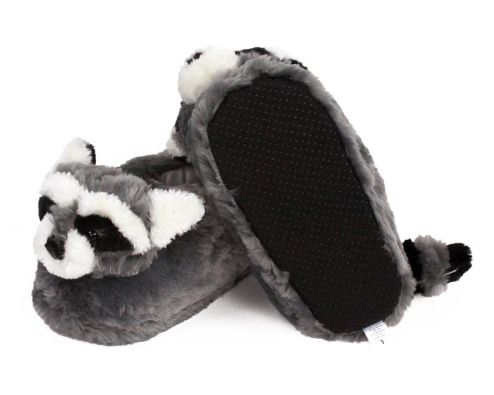 Raccoon Slippers Bottom View