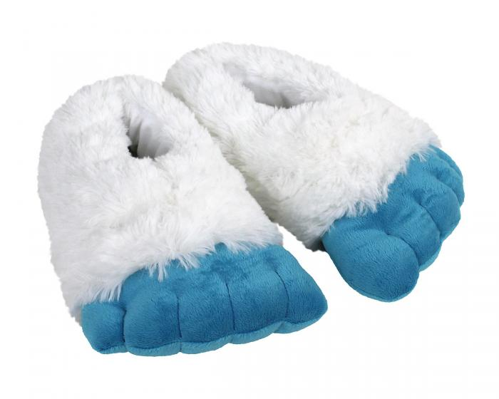 Abominable Snowman Yeti Feet Slippers 3/4 View