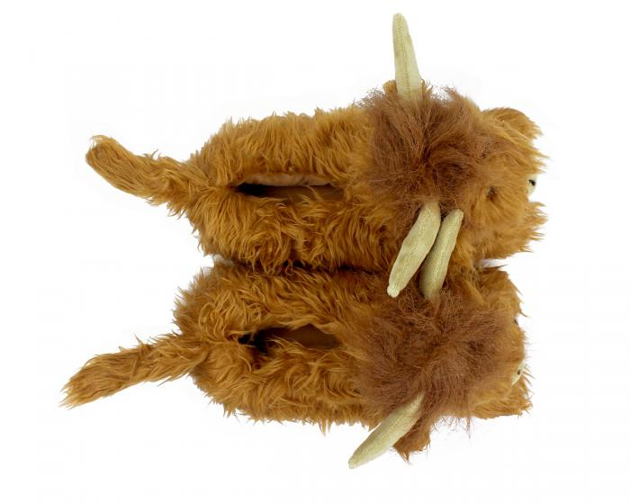 Highland Cattle Slippers Top View