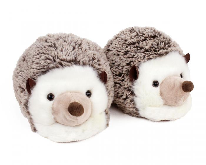 Fuzzy Hedgehog Slippers 3/4 View