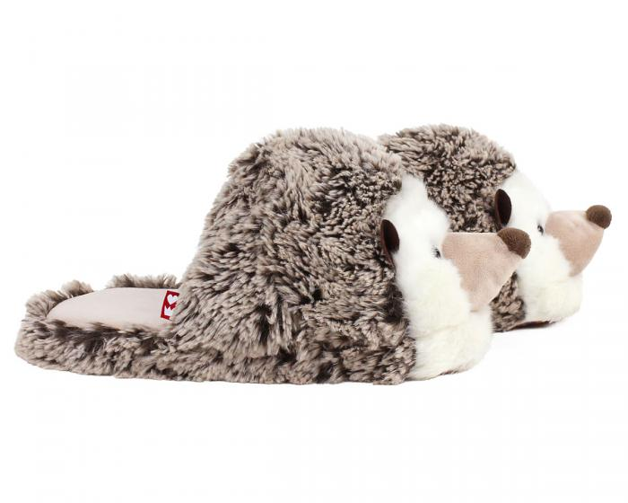 Fuzzy Hedgehog Slippers Side View