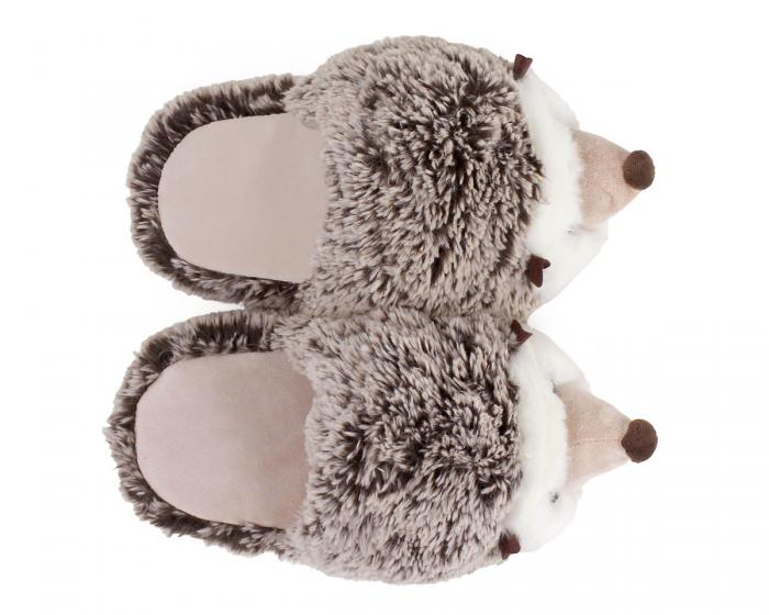 Fuzzy Hedgehog Slippers Top View