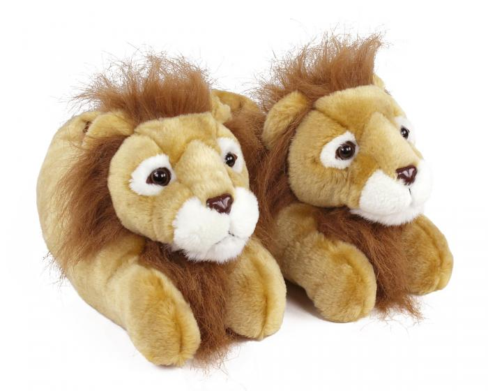 Lion Slippers 3/4 View