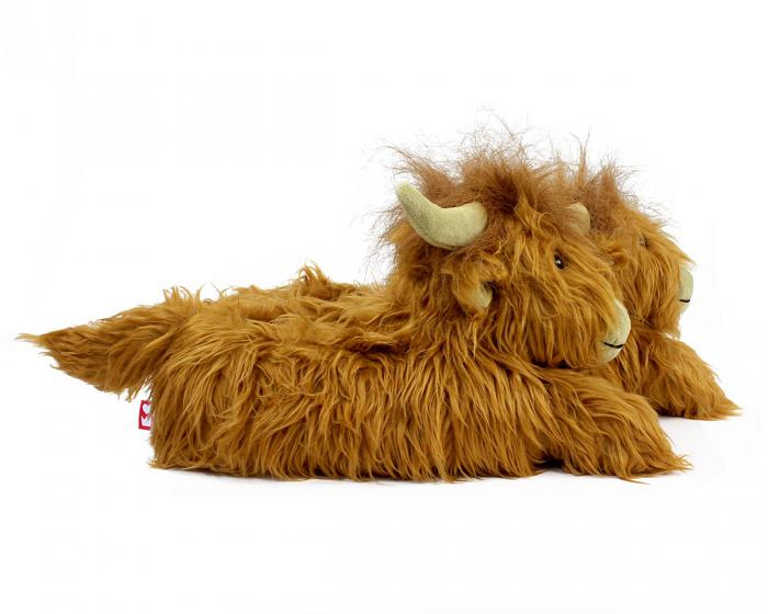 Highland Cattle Slippers Side View