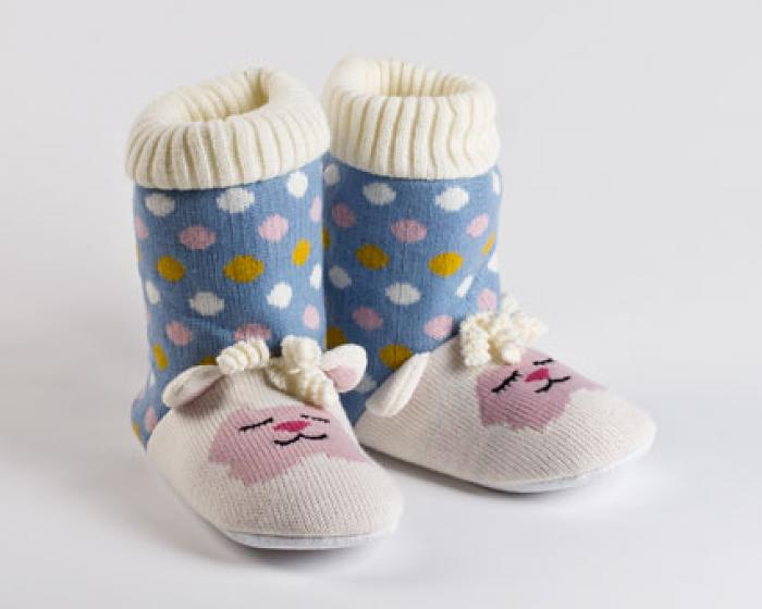 Knitted Sock Lamb Slippers 1