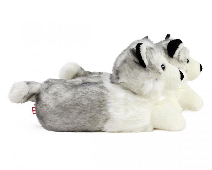 Husky Dog Slippers Side View