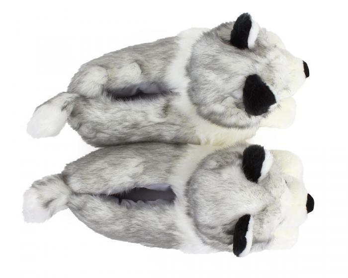 Husky Dog Slippers Top View