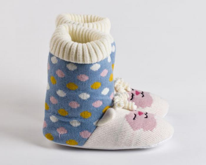 Knitted Sock Lamb Slippers 2