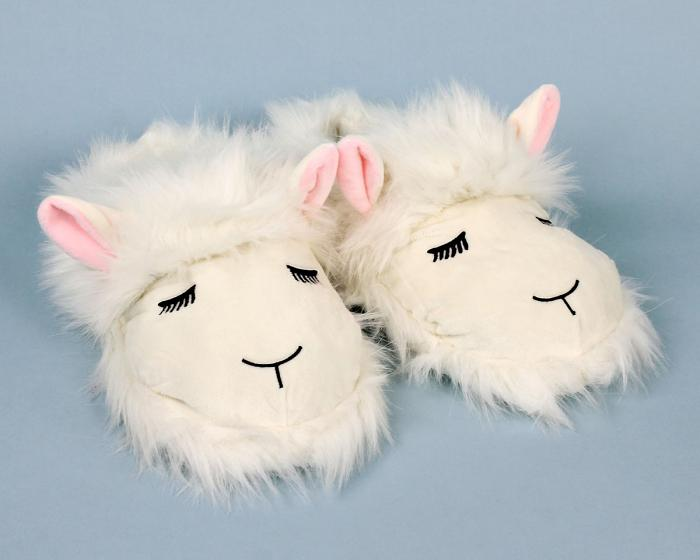 Fuzzy Lamb Slippers View 1