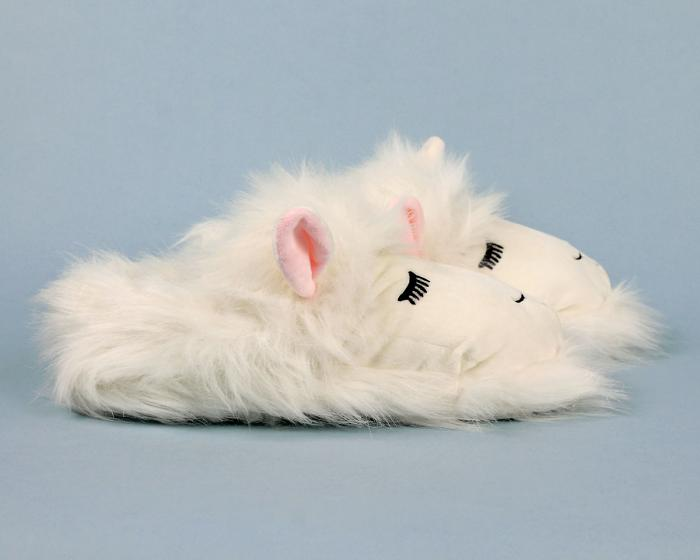 Fuzzy Lamb Slippers Side View
