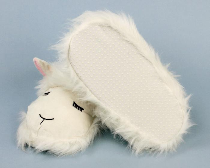 Fuzzy Lamb Slippers Bottom View