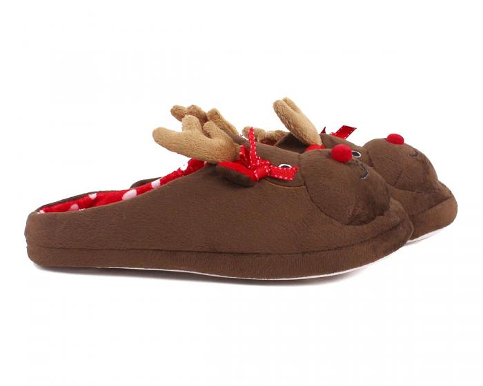 Rudolph Reindeer Slippers Side View