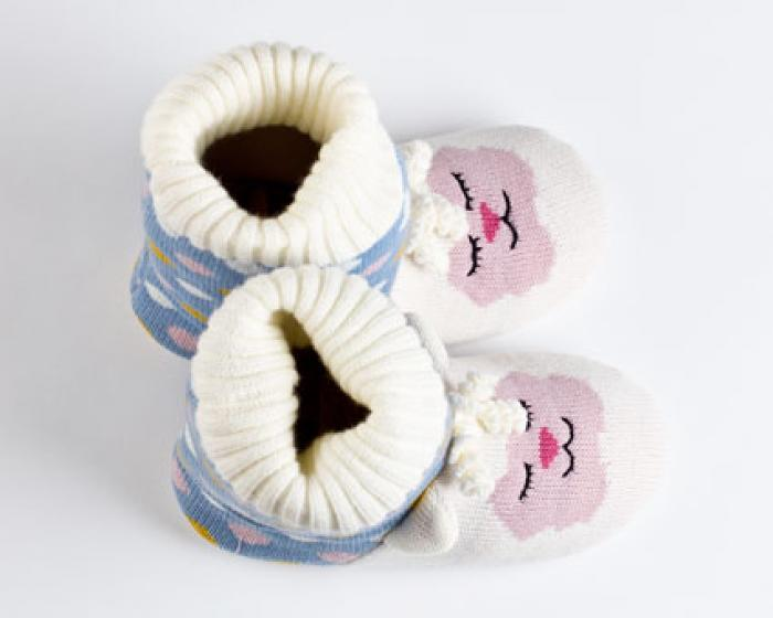 Knitted Sock Lamb Slippers 4