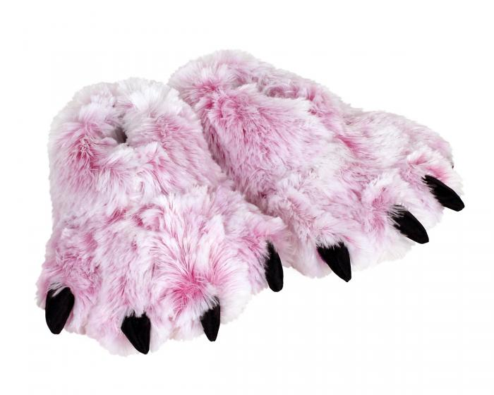 Pink Tiger Paw Slippers 3/4 View
