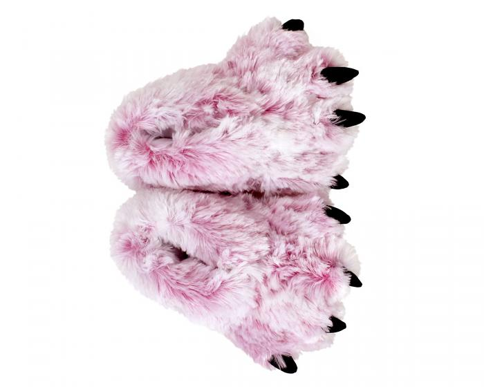 Pink Tiger Paw Slippers Top View