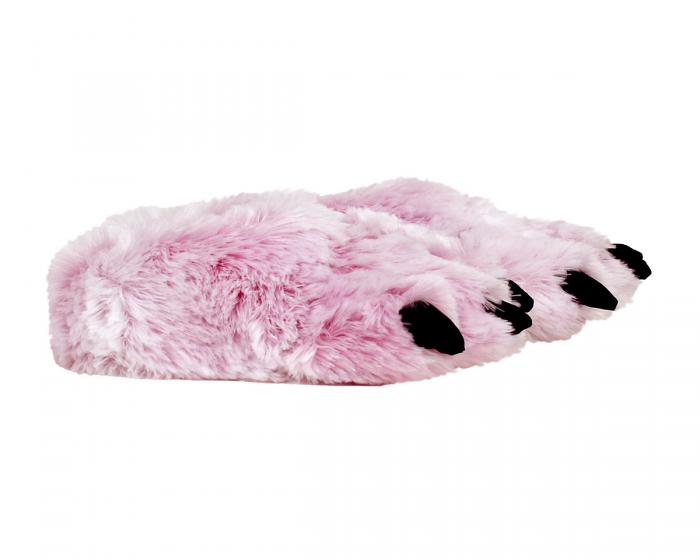 Pink Tiger Paw Slippers Side View