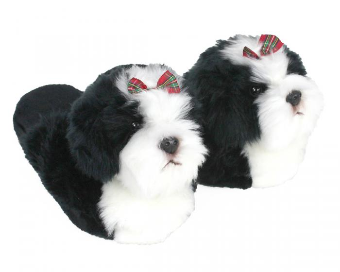 Shih-Tzu Dog Slippers 3/4 View