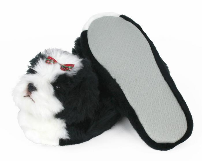 Shih-Tzu Dog Slippers Bottom View