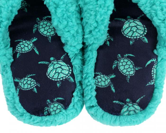 Turtle Spa Slippers Close Up
