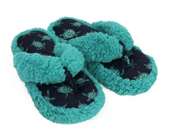 Turtle Spa Slippers 3/4 View
