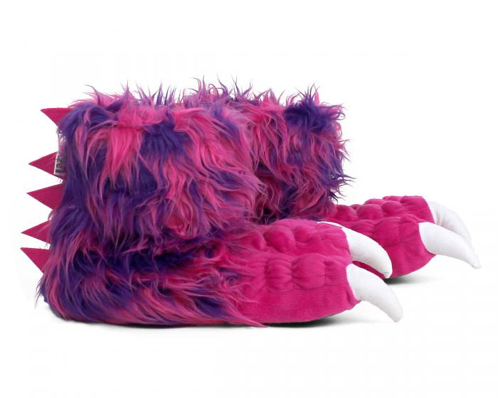 Pink Monster Claw Slippers Side View