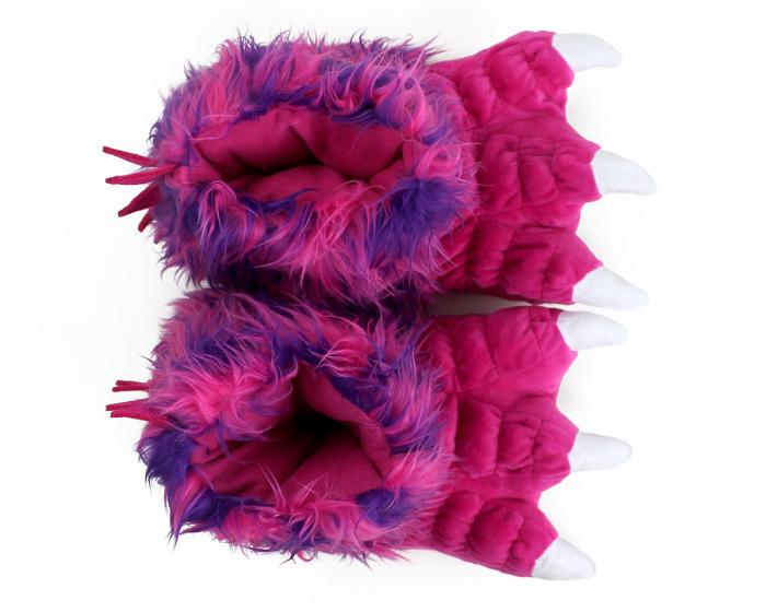 Pink Monster Claw Slippers Top View