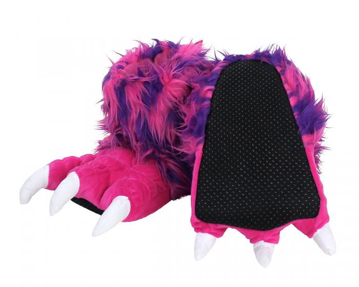 Pink Monster Claw Slippers Bottom View