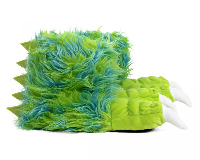 Green Monster Claw Slippers Side View