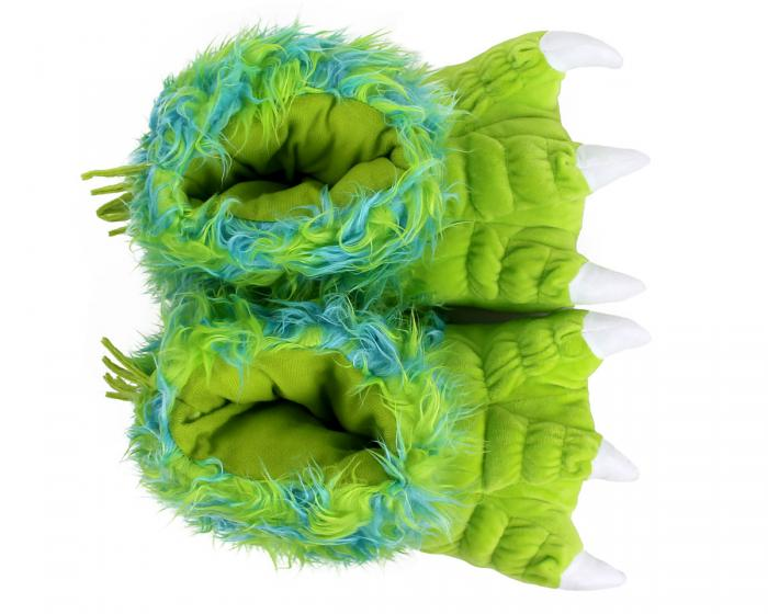 Green Monster Claw Slippers Top View