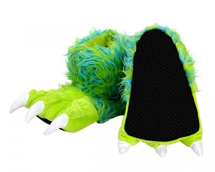 Green Monster Claw Slippers Bottom View