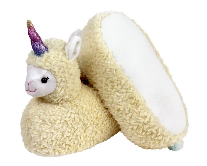 Llama Unicorn Slippers Bottom View