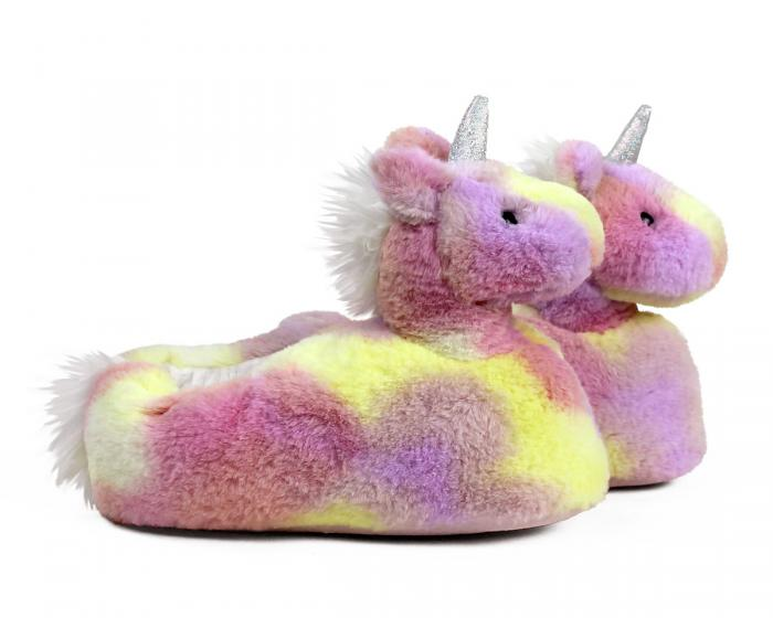 Rainbow Unicorn Slippers Side View