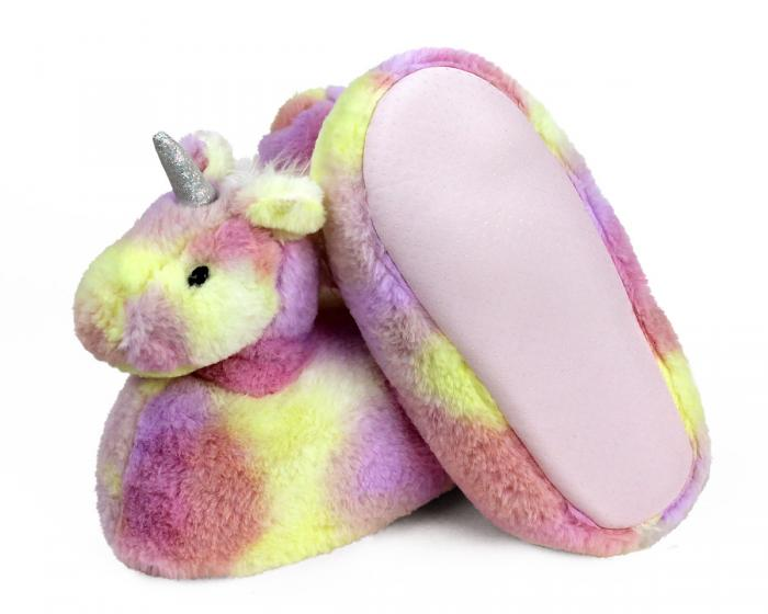 Rainbow Unicorn Slippers Bottom View