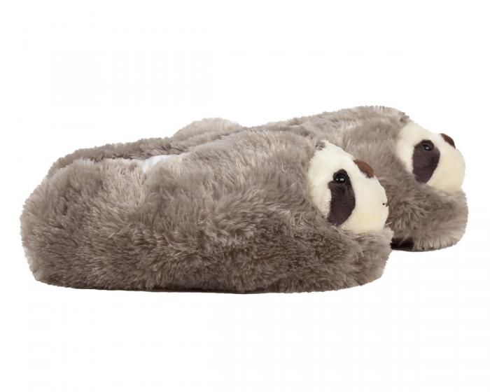 Fuzzy Sloth Slippers Side View