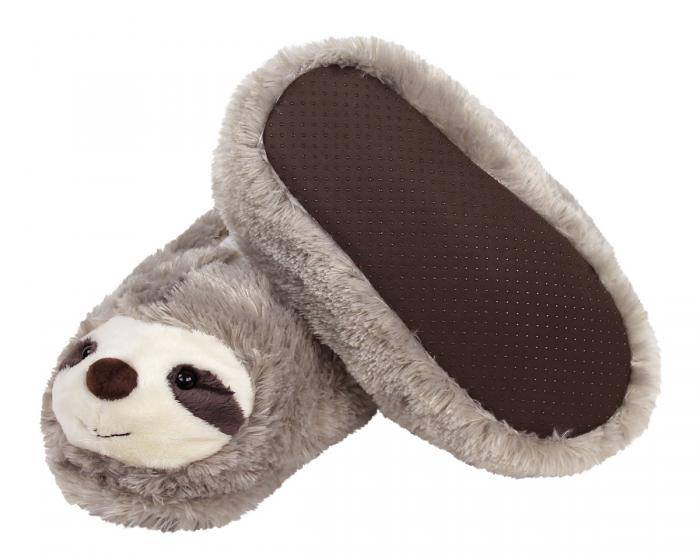 Fuzzy Sloth Slippers Bottom View