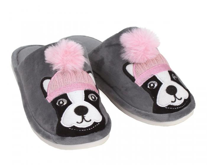 Pom Pom Dog Slippers 3/4 View