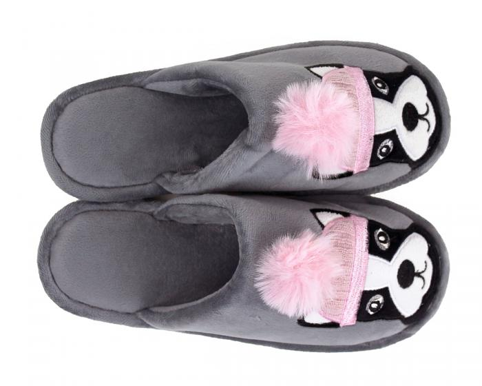 Pom Pom Dog Slippers Top View