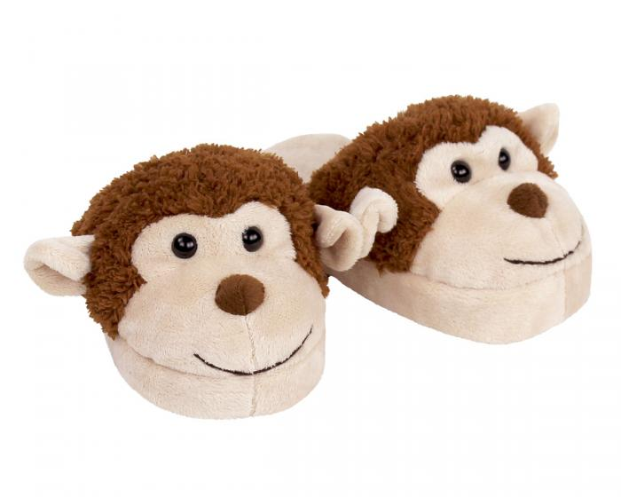 Kids Monkey Slippers 3/4 View