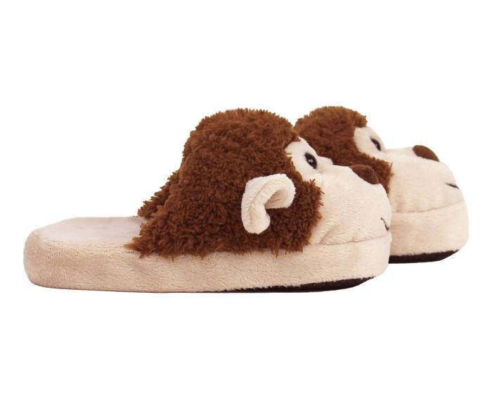 Kids Monkey Slippers Side View