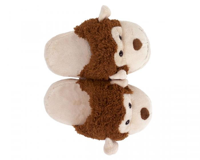 Kids Monkey Slippers Top View