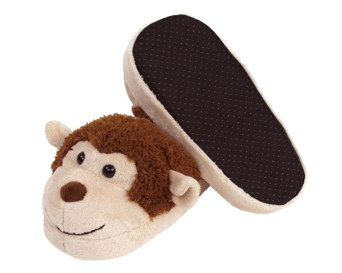 Kids Monkey Slippers Bottom View