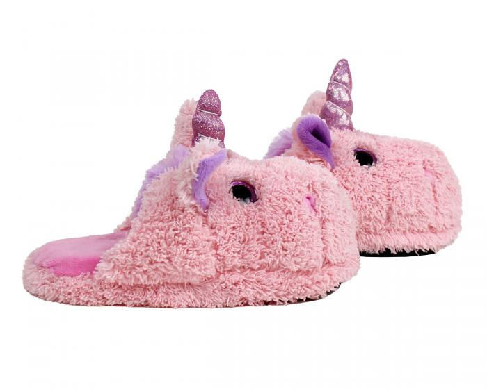 Kids Unicorn Slippers Side View