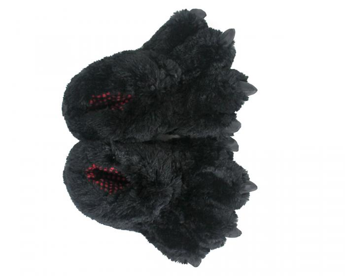 Black Bear Paw Slippers Top View