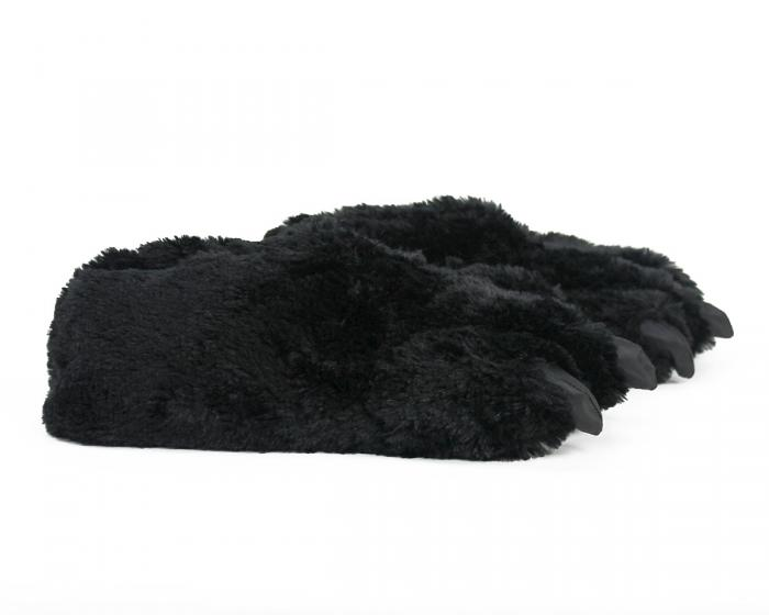 Black Bear Paw Slippers Side View