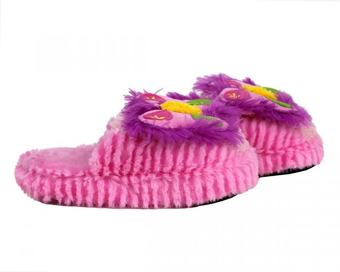 Kids Butterfly Slippers Side View